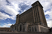 Old Man Digital Art Originals - Detroits Abandoned Michigan Central Station by Gordon Dean II