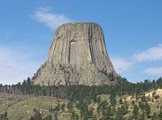 Christine Edwards Posters - Devils Tower Poster by Christine Edwards