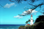 Diamond Head Prints - Diamond Head Lighthouse Print by Thomas R Fletcher