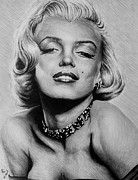 Norma Jean Drawings - Diamonds are a girls best friend by Andrew Read