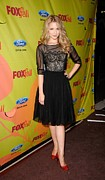 Full Skirt Photo Metal Prints - Dianna Agron At Arrivals For Fox Fall Metal Print by Everett