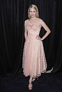 Peach Dress Framed Prints - Dianna Agron In Attendance For The 9th Framed Print by Everett