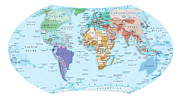 Cartography Digital Art - Digital Illustration Of Map Showing World Population Areas by Dorling Kindersley