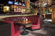 Sports Bar Prints - Dining Booth in an American Style Diner Print by Jaak Nilson