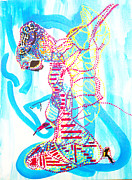 Africa Dinka Paintings - Dinka Angel Bride - South Sudan by Gloria Ssali