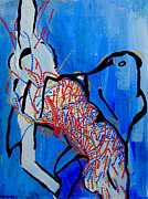 Africa Dinka Paintings - Dinka Corset - Manlual - South Sudan by Gloria Ssali