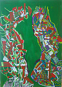 Africa Dinka Paintings - Dinka Marriage by Gloria Ssali