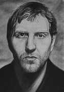 Basketball Sports Drawings Prints - Dirk Print by Steve Hunter