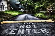 Signpost Prints - Do Not Enter Print by Madeline Ellis