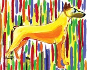 Doberman Pinscher Paintings - Doberman Pinscher by Char Swift