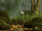 Extinct Digital Art - Dodo Creek by Daniel Eskridge