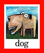 Cartoony Prints - Dog Poster Print by Tim Nyberg
