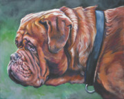 Mastiff Dog Paintings - Dogue de Bordeaux by Lee Ann Shepard