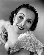 Del Rio Photo Framed Prints - Dolores Del Rio, 1934 Framed Print by Everett