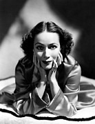 Del Rio Photo Framed Prints - Dolores Del Rio, 1935 Framed Print by Everett