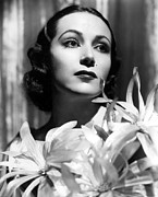 Beauty Mark Photo Prints - Dolores Del Rio, Portrait Ca. 1934 Print by Everett
