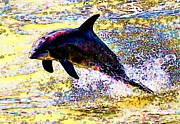 John Collins Metal Prints - Dolphin Metal Print by John Collins