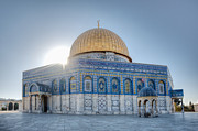 Holy Land Framed Prints - Dome of the Rock Framed Print by Noam Armonn