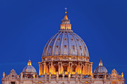 Michelangelo Photo Posters - Dome San Pietro Poster by Brian Jannsen