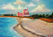 Gabriela Valencia Acrylic Prints - Don Cesar Hotel Acrylic Print by Gabriela Valencia