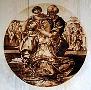 Reproduction Pyrography Originals - Doni Tondo by Dino Muradian