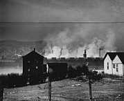 Factories Framed Prints - Donora, Pennsylvania, As Seen Framed Print by Everett