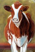 Animals Pastels Originals - Dont Call Me Bossy by Jan Amiss