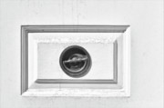 Black Pastels Framed Prints - Door Handle Framed Print by Robert Ullmann
