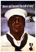Us Navy Digital Art Framed Prints - Dorie Miller  Framed Print by War Is Hell Store