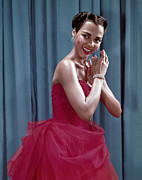 Diamond Earrings Framed Prints - Dorothy Dandridge, 1954 Framed Print by Everett