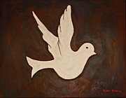 Religious Art Painting Originals - Dove by Jeremy Cardenas