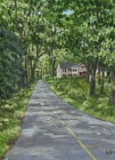 Solebury Framed Prints - Down a Country Road Framed Print by Margie Perry