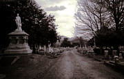 Toy Shop Prints - Downtown Cemetery Print by Doug  Duffey