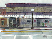 Streets Painting Originals - Downtown Diner by Donald Maier