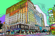 Businesses Digital Art Prints - Downtown Memphis Print by Barry Jones