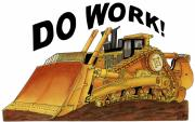 Bulldozer Prints - Dozer Toon Print by Lyle Brown