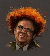 Celebrity Digital Art Framed Prints - Dr. Steve Brule  Framed Print by Fay Helfer