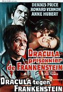 1970s Poster Art Photos - Dracula Contra Frankenstein, Aka by Everett