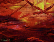 Bolts Painting Prints - Dragons Lair Print by Tamara Mathis