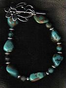 Animals Jewelry Originals - Dragonscale Turquoise Bracelet by White Buffalo