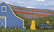 Farm Sculpture Metal Prints - Dream Cycle Metal Print by Anne Klar