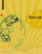 Affirmation Mixed Media Posters - Dream Poster by Ricki Mountain