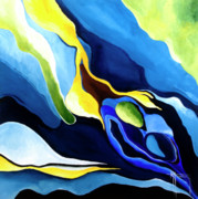 New Ideas Paintings - Dreams In Blue by Nickola McCoy-Snell
