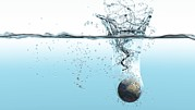 Flooding Photos - Drowning Earth, Conceptual Image by Karsten Schneider