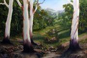 Landscapes Reliefs - Dry Creek by John Cocoris