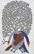 Gond Tribal Art Painting Originals - Ds 365 by Dilip Shyam