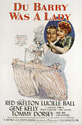Skelton Posters - Du Barry Was A Lady, Red Skelton Poster by Everett
