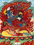 Buddhist Paintings - Dudjoms Dorje Drollo by Sergey Noskov