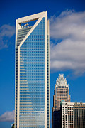 Digital Photo Charlotte Nc Prints - Duke Energy Tower Print by Patrick Schneider