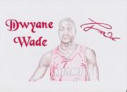 Dwyane Wade Print by Toni Jaso